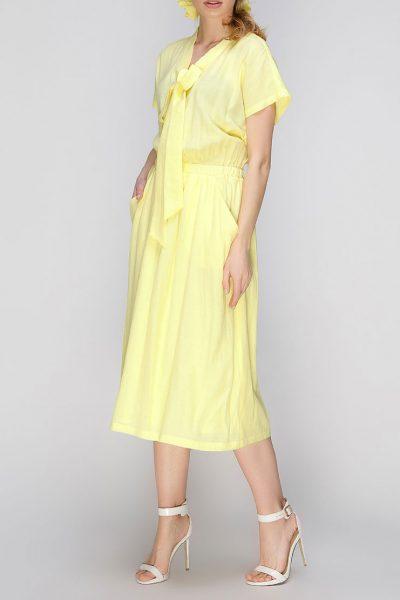 платье миди с поясом на резинке AY_2637, фото 1 - в интеренет магазине KAPSULA