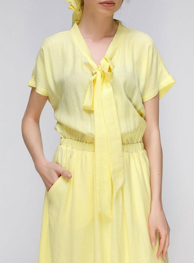 Платье миди с поясом на резинке AY_2637, фото 1 - в интернет магазине KAPSULA