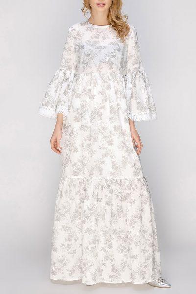 Трехярусное платье макси с кружевами AY_2655, фото 5 - в интеренет магазине KAPSULA