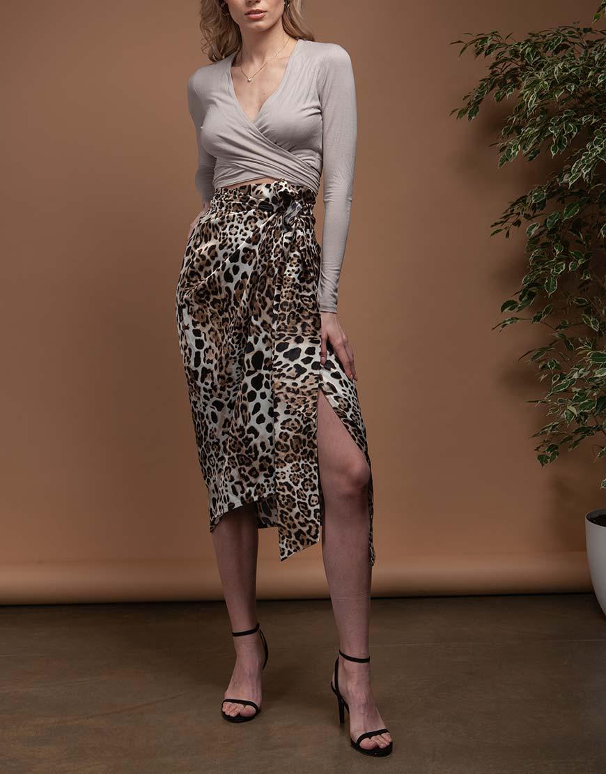 Асимметричная юбка на запах