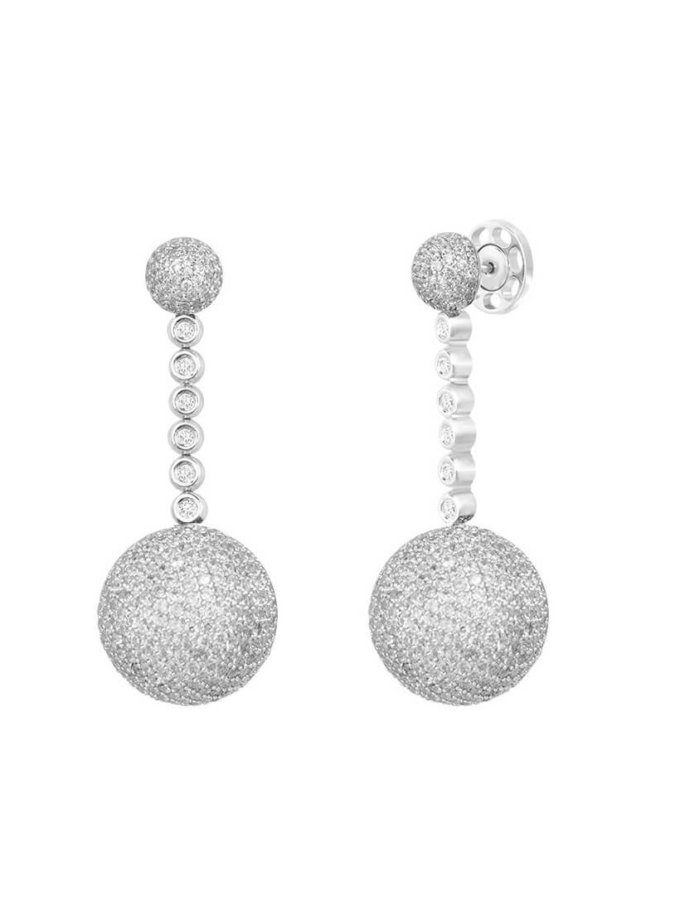 Серьги из серебра с вставками из циркония Dana NTKN_TKE0011W_white, фото 1 - в интеренет магазине KAPSULA