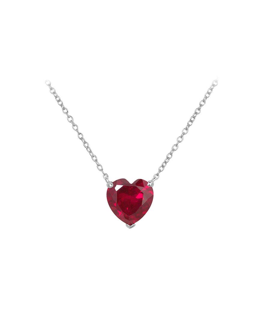 Серебряная подвеска со вставками из циркония Heart