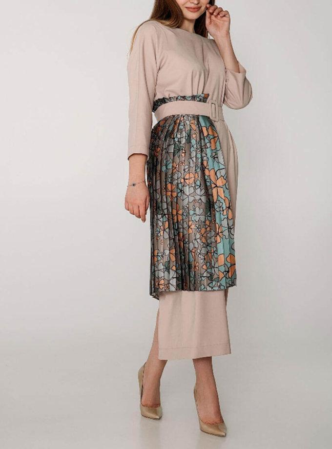 Двухстороннее платье с вставкой плиссе и поясом WNDR_ss19_ddr01, фото 1 - в интернет магазине KAPSULA