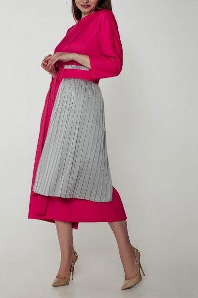 Двухстороннее платье с вставкой плиссе и поясом WNDR_ss19_df01, фото 1 - в интеренет магазине KAPSULA