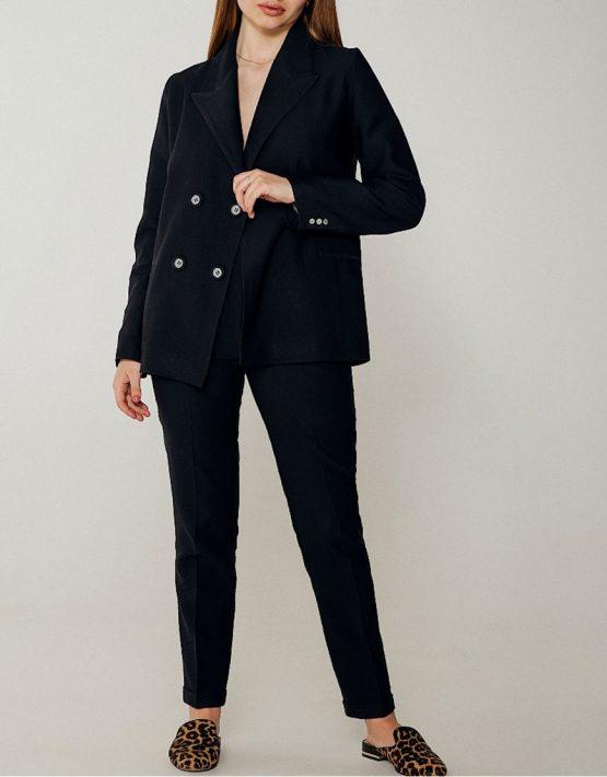 Льняной костюм с зауженными брюками WNDR_ss_sblck03, фото 2 - в интеренет магазине KAPSULA