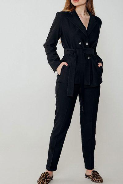 Льняной костюм с зауженными брюками WNDR_ss_sblck03, фото 1 - в интеренет магазине KAPSULA