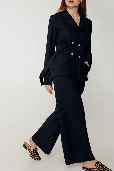 Костюм с широкими брюками из льна WNDR_ss_sblck04, фото 1 - в интеренет магазине KAPSULA