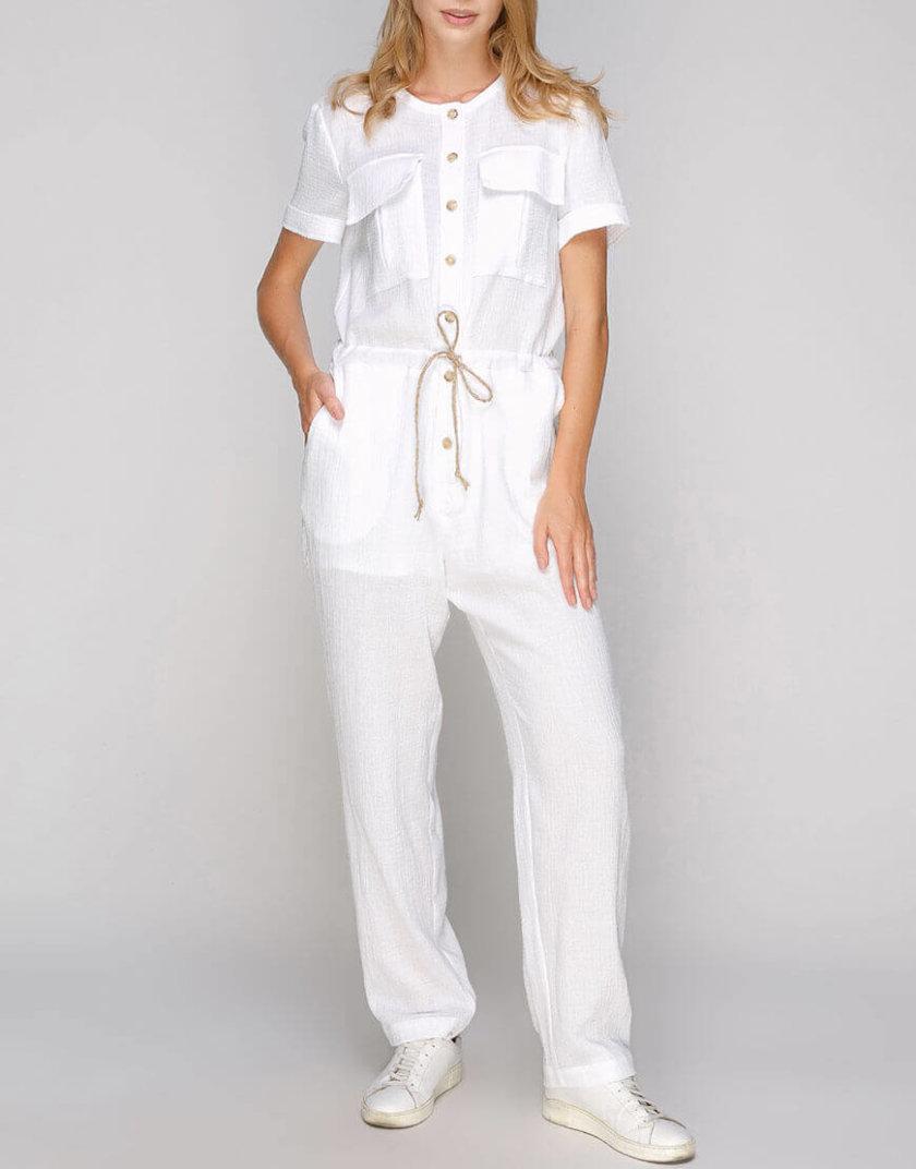 Хлопковый комбинезон с накладными карманами AY-2671, фото 1 - в интернет магазине KAPSULA