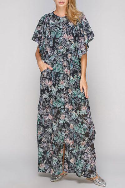 Хлопковое платье макси с разрезами AY-2675, фото 1 - в интеренет магазине KAPSULA