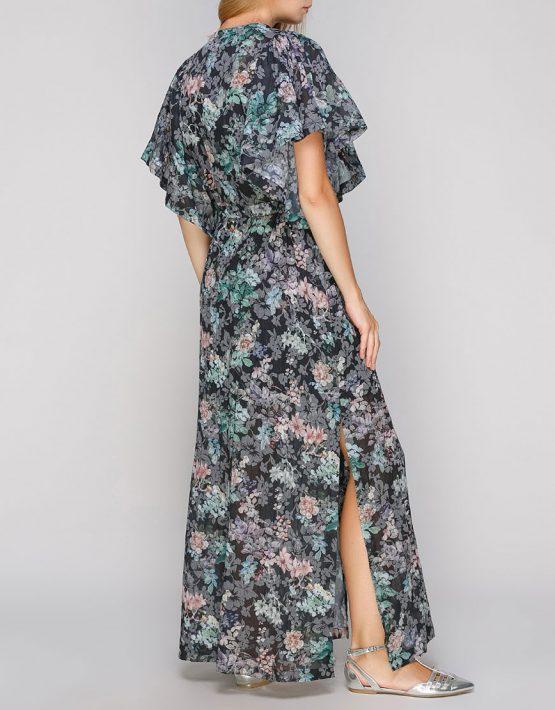 Хлопковое платье макси с разрезами AY-2675, фото 3 - в интеренет магазине KAPSULA