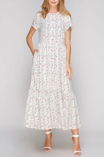 Легкое платье макси AY-2685, фото 7 - в интеренет магазине KAPSULA