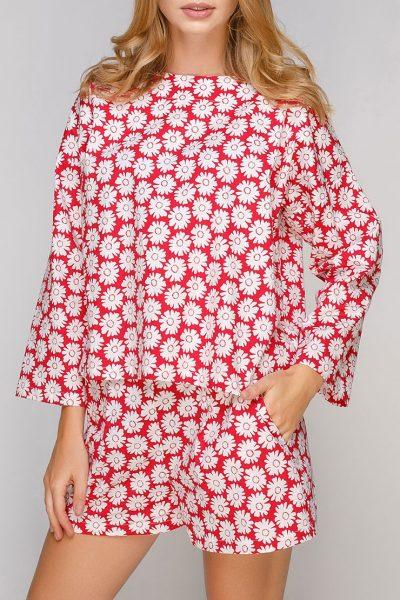 Блуза свободного кроя из хлопка AY-2700, фото 4 - в интеренет магазине KAPSULA