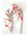 Шелковый платок Фламинго 65х65 OLZ_KS_SS119, фото 3 - в интеренет магазине KAPSULA