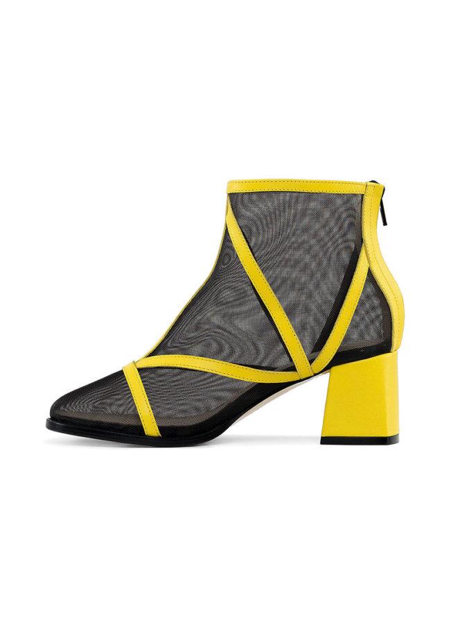 Кожаные ботинки Yellow MRSL_845641, фото 1 - в интеренет магазине KAPSULA