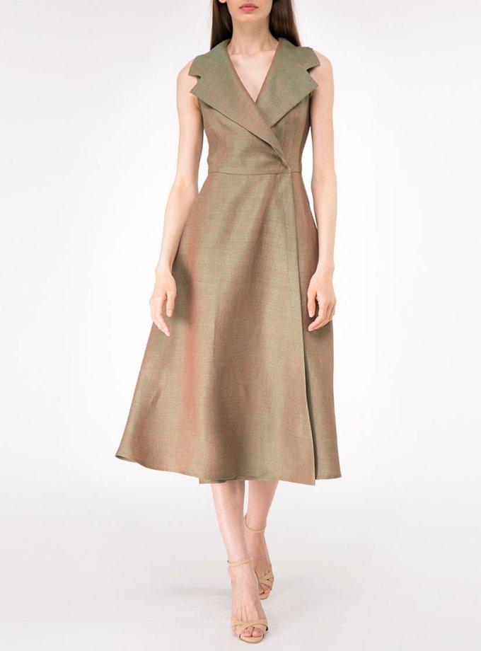 Льняное платье на запах SHKO-14093024, фото 1 - в интернет магазине KAPSULA