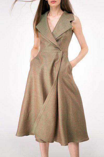 Льняное платье на запах SHKO-14093024, фото 1 - в интеренет магазине KAPSULA