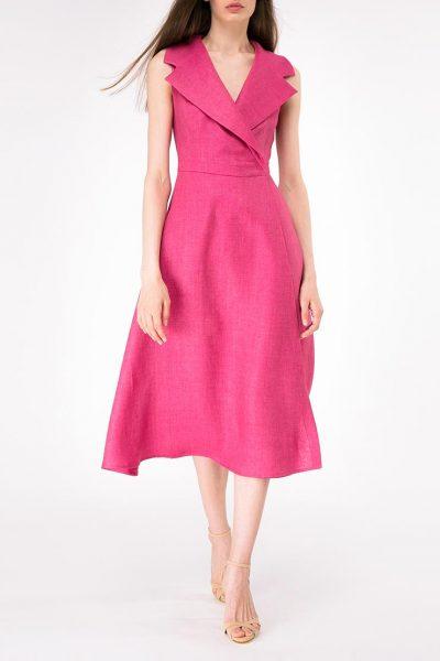 Льняное платье на запах SHKO-14093026, фото 1 - в интеренет магазине KAPSULA