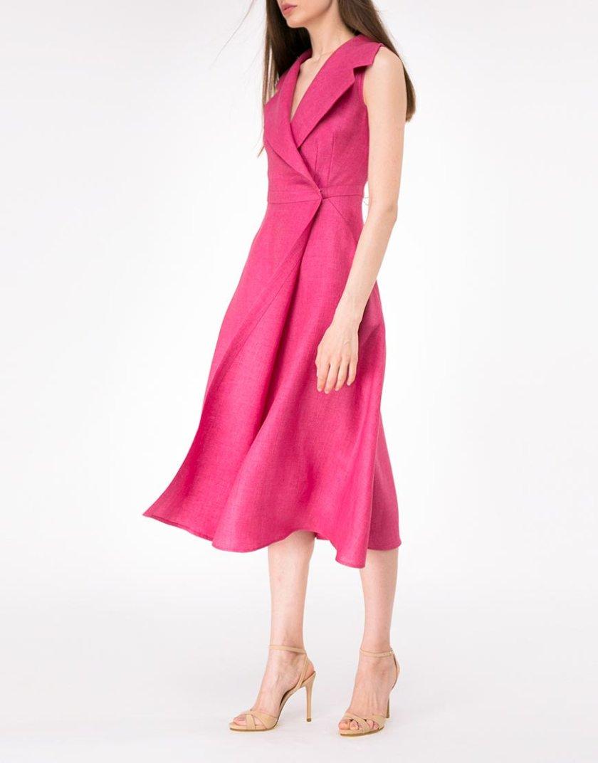 Льняное платье на запах SHKO-14093026, фото 1 - в интернет магазине KAPSULA
