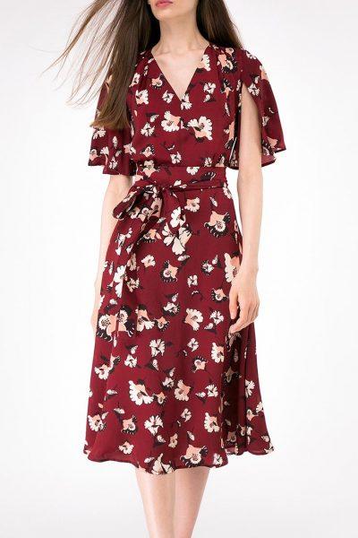 Платье А-силуэта с поясом SHKO-16017009, фото 1 - в интеренет магазине KAPSULA