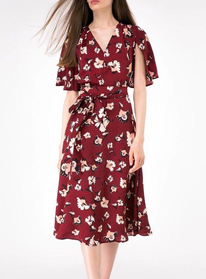 Платье А-силуэта с поясом SHKO-16017009_outlet, фото 1 - в интернет магазине KAPSULA