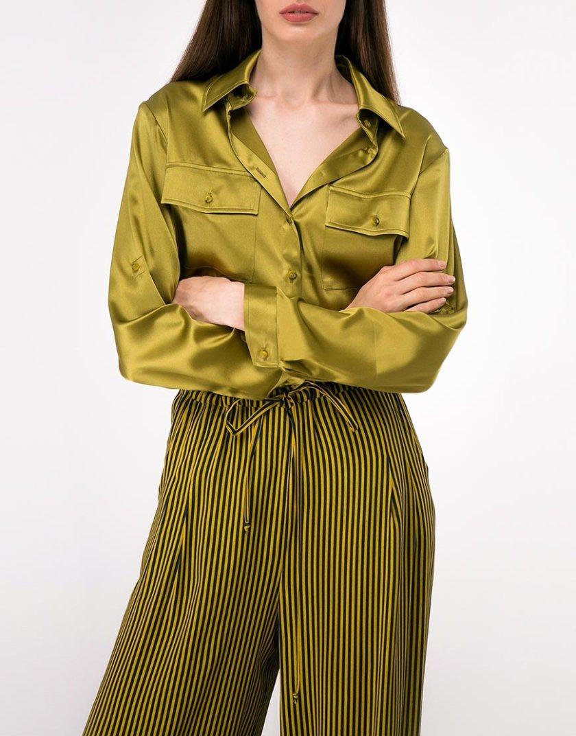 Шелковая рубашка с накладными карманами SHKO-18032005, фото 1 - в интернет магазине KAPSULA