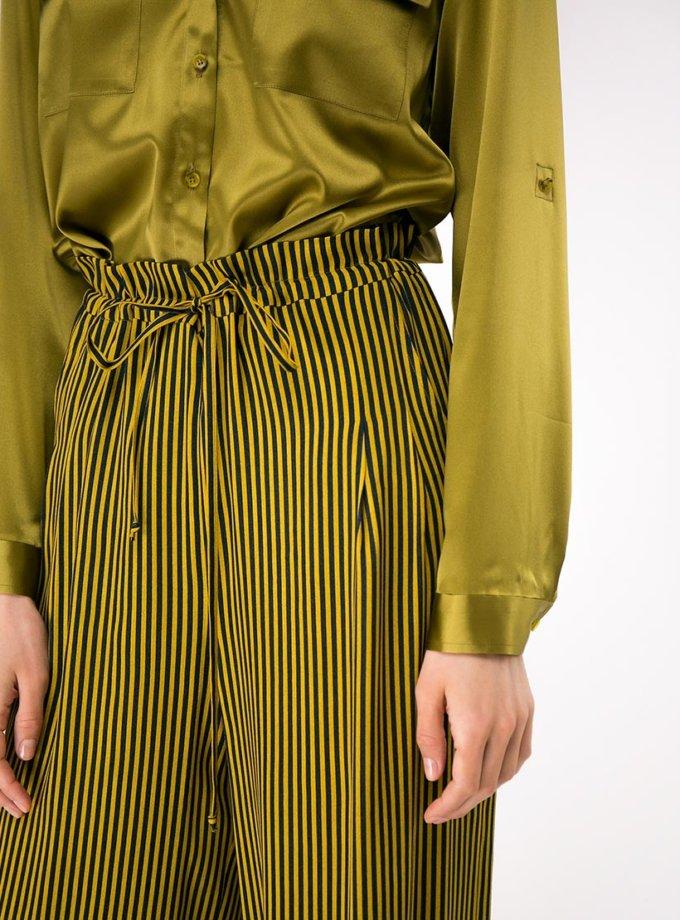 Шелковая рубашка с накладными карманами SHKO-18032005, фото 1 - в интеренет магазине KAPSULA