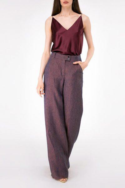 Широкие брюки из льна SHKO-18034006, фото 2 - в интеренет магазине KAPSULA