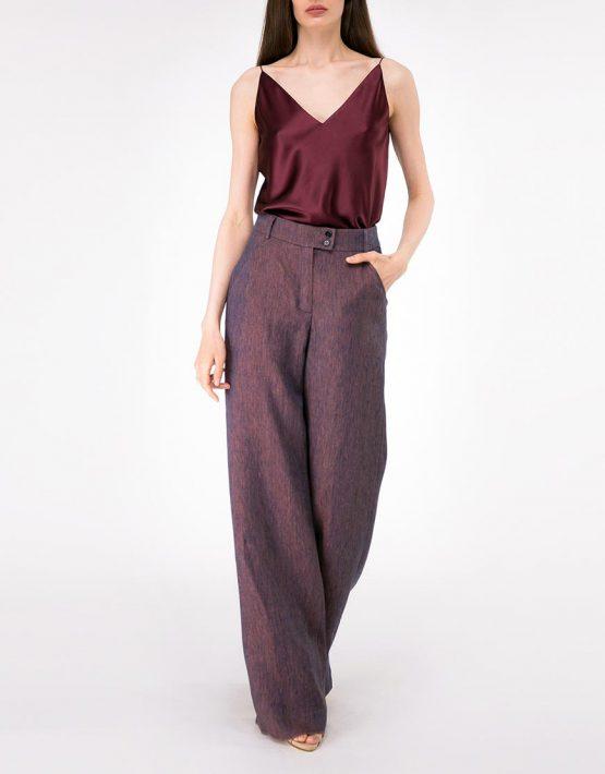 Широкие брюки из льна SHKO-18034006, фото 4 - в интеренет магазине KAPSULA
