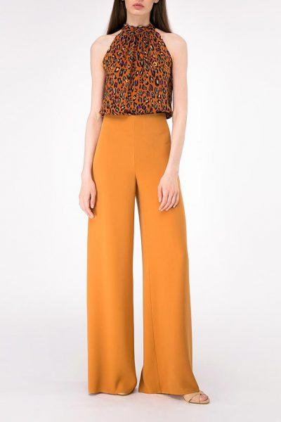 Широкие брюки на высокой посадке SHKO-19004002, фото 1 - в интеренет магазине KAPSULA