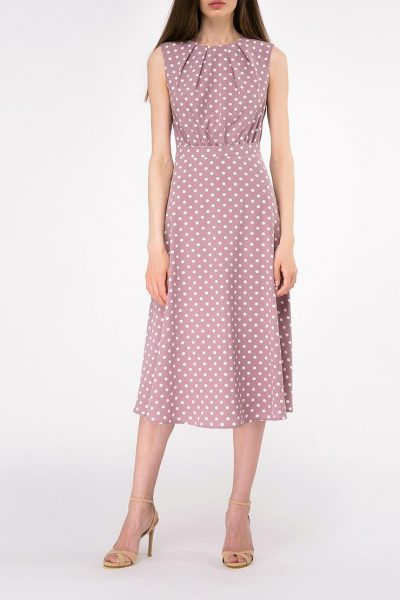 Платье миди полуприлегающего силуэта SHKO-19007006, фото 3 - в интеренет магазине KAPSULA