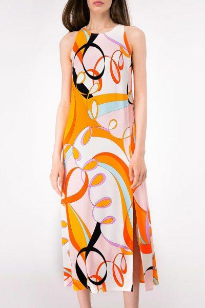 Платье прямого кроя с разрезом SHKO-19018001, фото 1 - в интеренет магазине KAPSULA