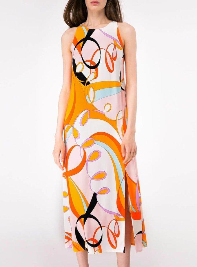 Платье прямого кроя с разрезом SHKO-19018001, фото 1 - в интернет магазине KAPSULA