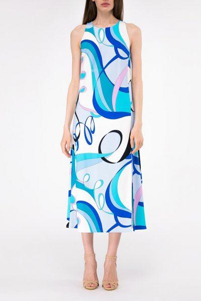 Платье прямого кроя с разрезом SHKO-19018002, фото 4 - в интеренет магазине KAPSULA