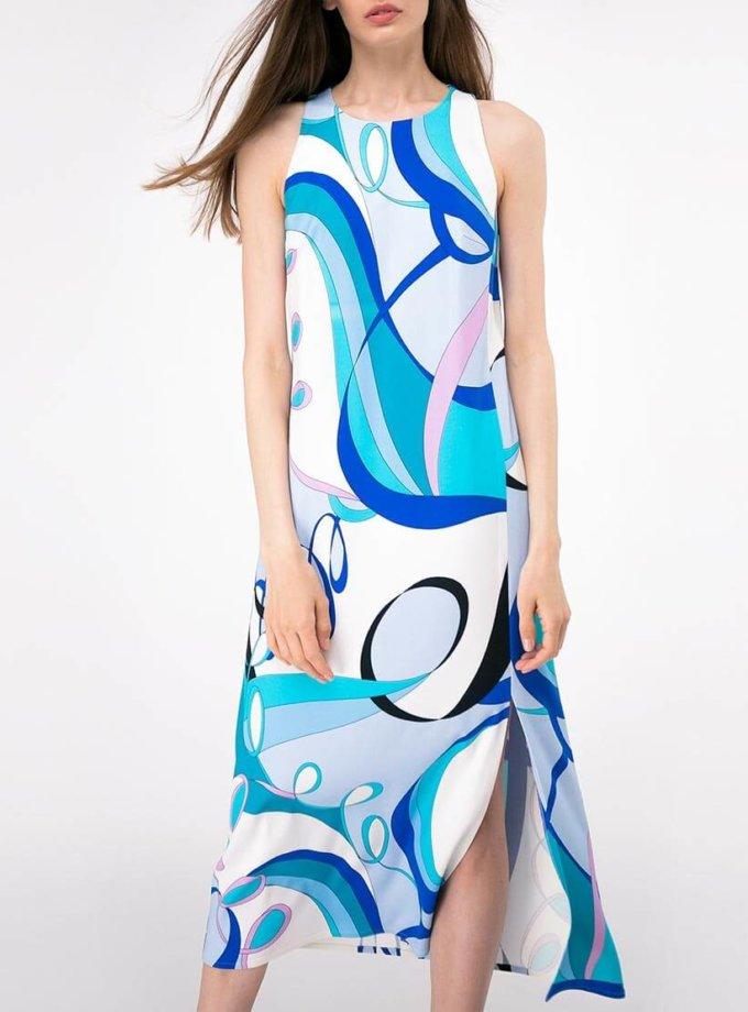 Платье прямого кроя с разрезом SHKO-19018002, фото 1 - в интернет магазине KAPSULA