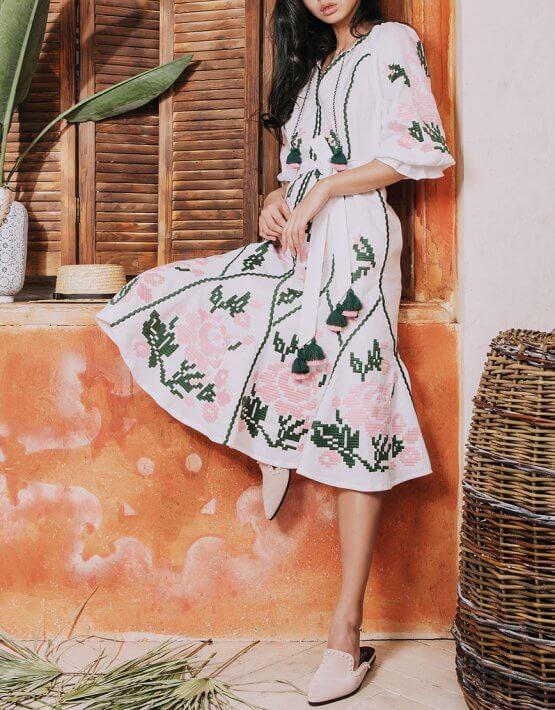 Платье-вышиванка Марта FOBERI_01152, фото 10 - в интеренет магазине KAPSULA