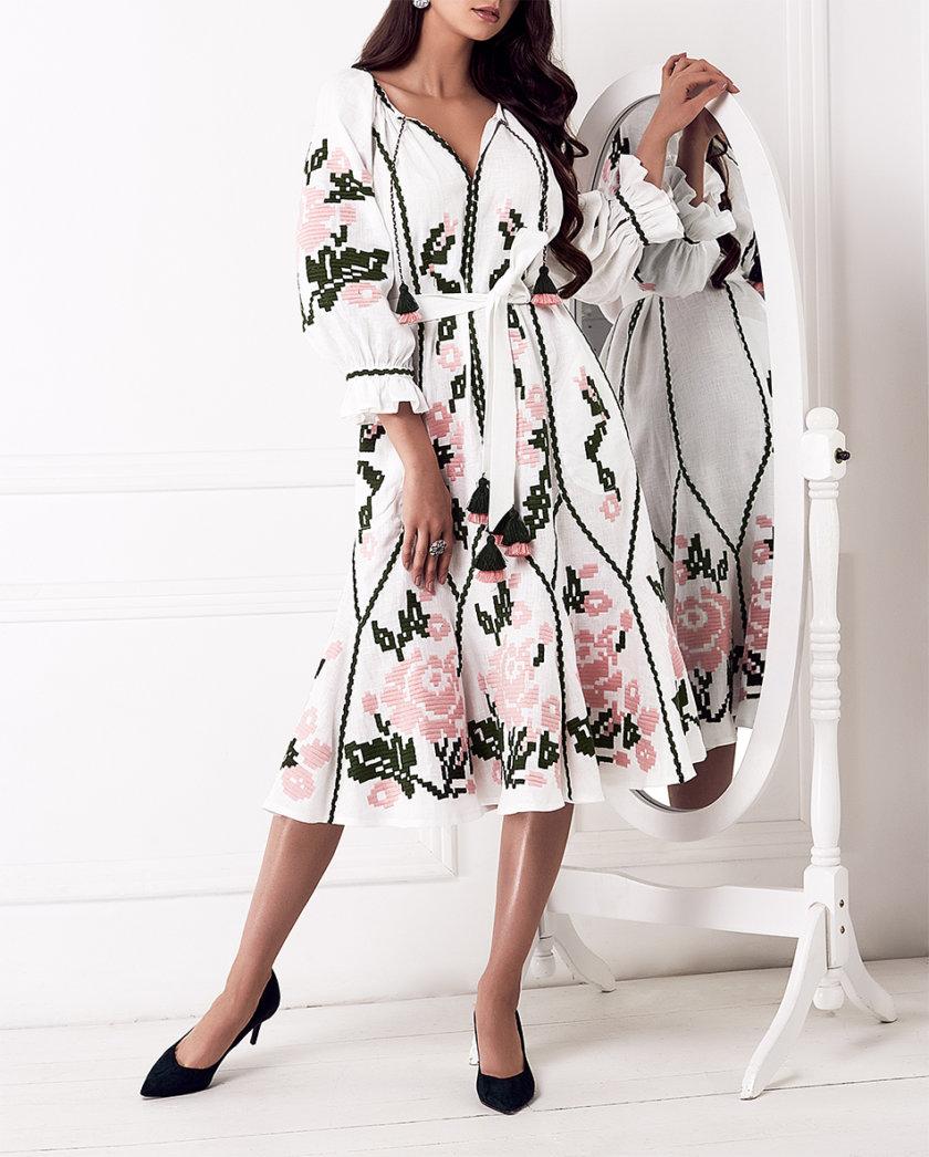 Платье-вышиванка Марта FOBERI_01152, фото 1 - в интернет магазине KAPSULA