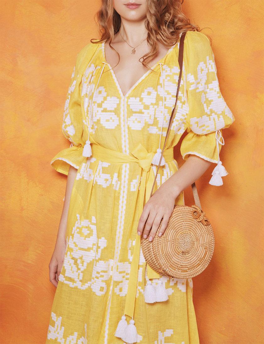 Платье-вышиванка Поцелуй солнца FOBERI_01153, фото 1 - в интернет магазине KAPSULA