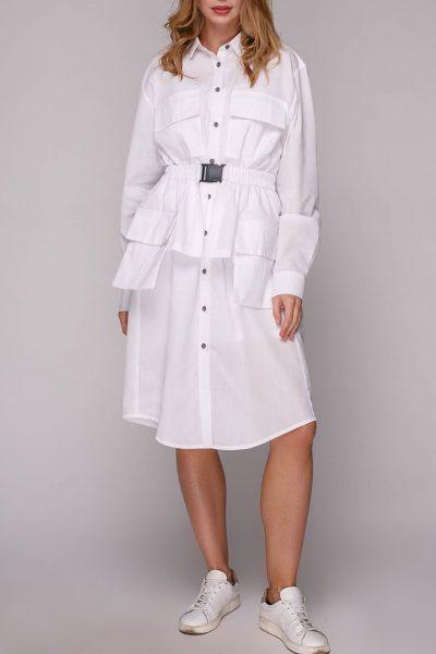Платье-рубашка с баской AY_2793, фото 1 - в интеренет магазине KAPSULA