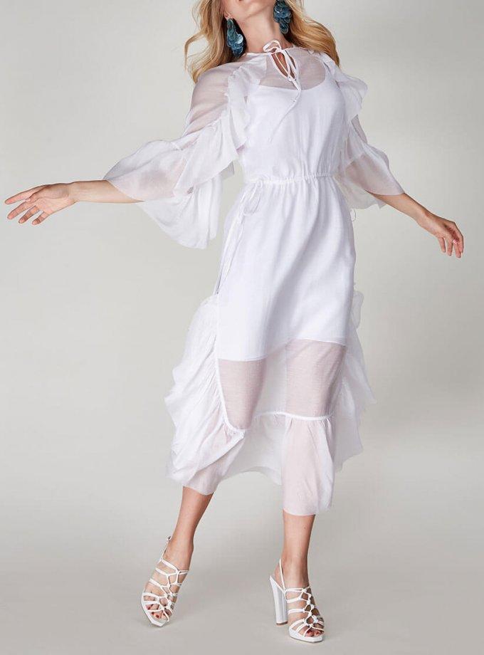 Двухслойное платье  с оборками CVR-SS201913, фото 1 - в интернет магазине KAPSULA