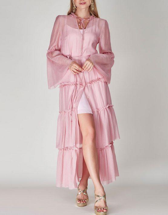 Платье бохо с рюшами CVR-SS201914, фото 3 - в интеренет магазине KAPSULA