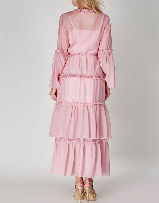 Платье бохо с рюшами CVR-SS201914, фото 4 - в интеренет магазине KAPSULA