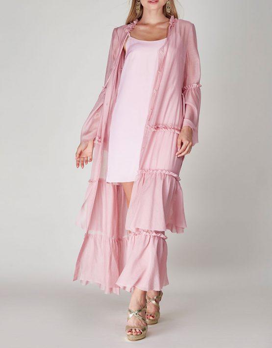Платье бохо с рюшами CVR-SS201914, фото 1 - в интеренет магазине KAPSULA