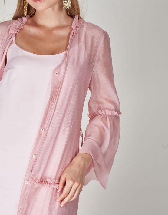 Платье бохо с рюшами CVR-SS201914, фото 5 - в интеренет магазине KAPSULA