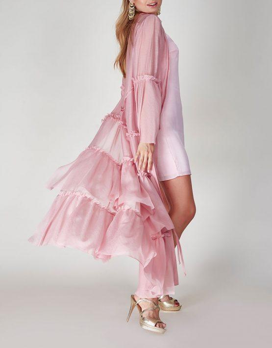 Платье бохо с рюшами CVR-SS201914, фото 6 - в интеренет магазине KAPSULA