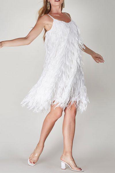 Платье с бахромой и пайетками на подкладе CVR-SS201915, фото 1 - в интеренет магазине KAPSULA