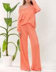 Легкие брюки на высокой талии FRBC_01-BT-beige, фото 3 - в интеренет магазине KAPSULA