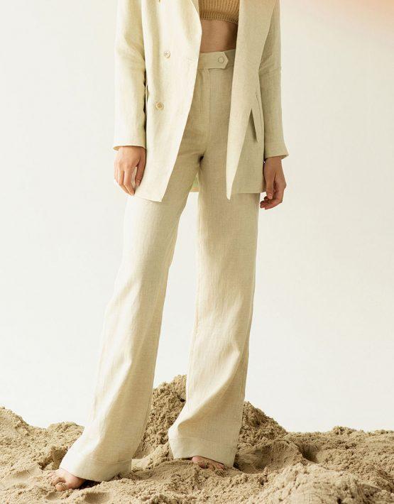 Широкие брюки из льна IRRO_SM19_PN_007, фото 2 - в интеренет магазине KAPSULA