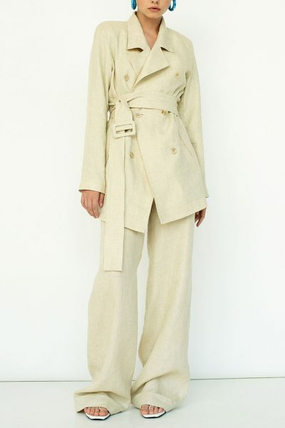 Широкие брюки из льна IRRO_SM19_PN_007, фото 1 - в интеренет магазине KAPSULA
