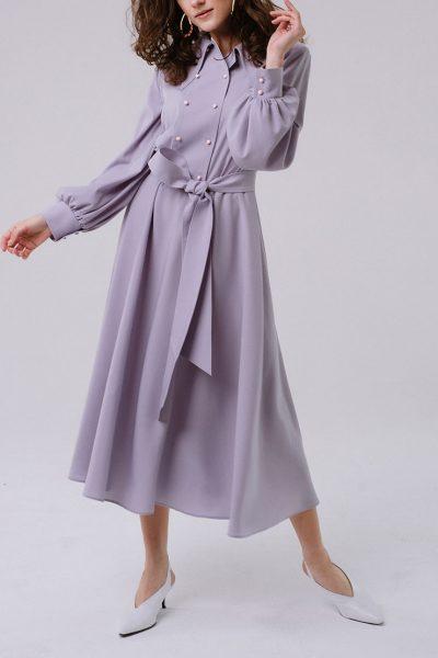 Платье с дизайнерской кокеткой MNTK_MTDRS1903, фото 3 - в интеренет магазине KAPSULA