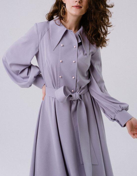 Платье с дизайнерской кокеткой MNTK_MTDRS1903, фото 7 - в интеренет магазине KAPSULA